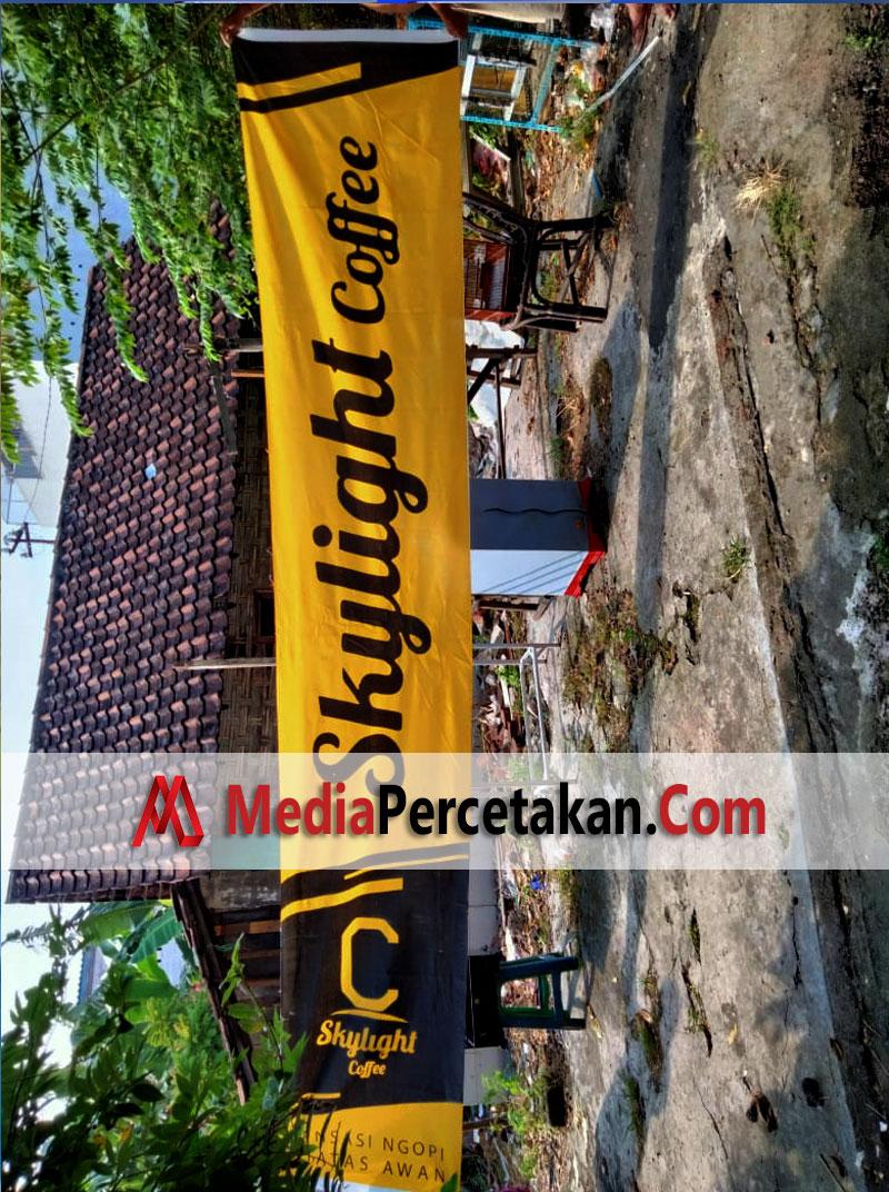 Cetak Umbulumbul - Spanduk Kain SKYLIGHT Cafe
